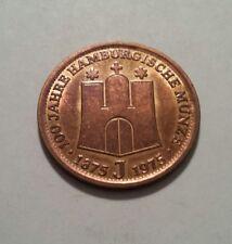 Medaille 100 Jahre Hamburger Münze 1975 Kupfer