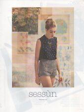 Publicité Advertising 2013  SESSUN vetement collection mode