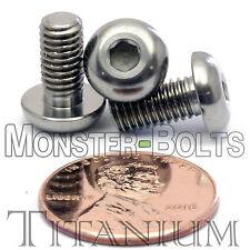 TITANIUM M5 x 10mm - DIN 9427 BUTTON HEAD Socket Cap Screw - BHCS - Ti Hex Allen