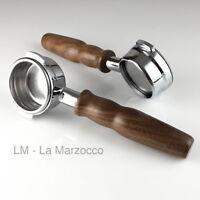 7mm Wings M10 double Spout /& Wooden Walnut handle Portafilter Gaggia OEM