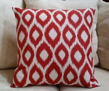 """Terrasol Ikat Pillow Cover Red/White LG. Print/$25.00 ea.4 Available  20"""" x 20"""""""