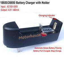3.7V Lithium Li-ion 18650 26650 Battery Charger Holder AC110V 220V to 4.2V 450mA