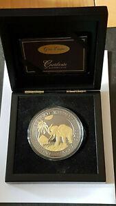 5 oz Silber Golden Enigma Somalia  Elefant 2017, 500 Shillings  Silver Coin