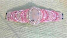 """Prissy Pink"" Peruvian Pink Opal 48 cts, Rose Quartz,  Glass Beads, Silver Clasp"