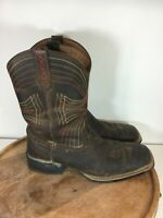 Ariat Sport Wide Square Toe Leather Upper Western Boots 10010963 Size 9.5D Mens