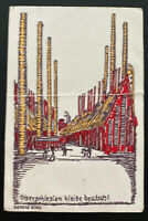 1891 France postcard Cover To Essen Germany Stay In Silesia