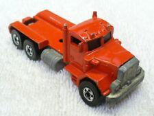 1979 HOT WHEELS 1/64 Diecast Red Peterbilt Flatbed Truck-Malaysia