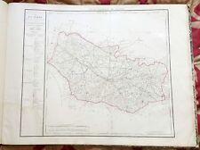 Dépt 80 - Carte Originale de 1790-1818 Gravure sur Cuivre Aquarellée 73 x 56 cm