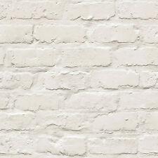 Ideco Home White Brick Wallpaper A10402