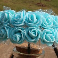 144Pcs/Set Artificial Flowers Foam Rose Floral Bouquet Wedding Party Home Decor