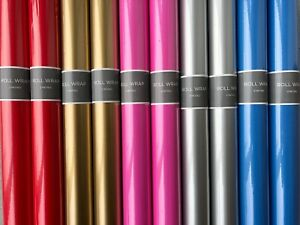 Hallmark Gift Wrapping Paper-(Gold/Silver/Red/Blue/Pink) 10 x 2M Rolls-Birthday