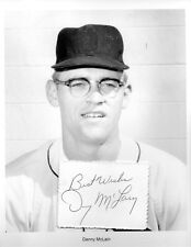 Denny McLain Autograph MLB Pitcher World Series Baseball Detroit Tigers All Star