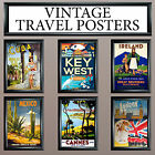 VINTAGE RETRO TRAVEL WALL DECO/ART PRINT - LARGE A3 OR A4 FREE UK P&P