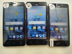 Lot of 3 ZTE Maven 2 Z831 8GB AT&T Check IMEI Fair Condition DA-243