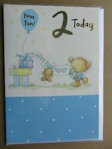 Happy 2nd Birthday Boy Cards. Multiple designs. Select one card.