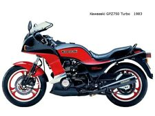 Motorcycle Canvas Picture Kawasaki GPZ750 Turbo 1983 Canvas 16x12 inch