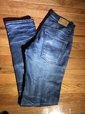 Nudie Jeans Thin Finn 31 X 34 Mens Indigo Wash Denim Jeans organic cotton