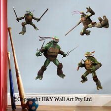 Ninja Turtles Kids Wall Stickers Boys Decal Art Mural Nursery Decor Raphael Deco