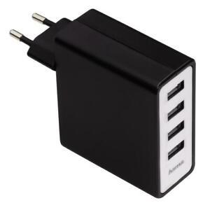 Hama Netz USB-Ladeadapter /  Ladegerät 4-fach USB  5 V/5,1 A 54182