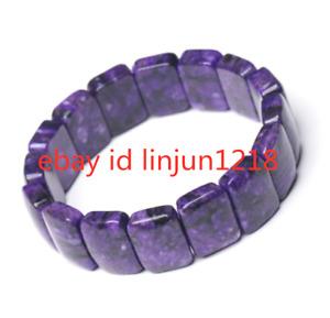 Rare Top Quality Natural Purple Charoite Crystal Gemstone Bracelet 12x16mm