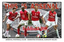 ARSENAL FOOTBALL CLUB PHOTO COLLAGE - HENRY - BERGKAMP - LOOKS AWESOME FRAMED