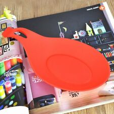 Spoon Mat Tool Holder Eggbeater Heat Resistant Dish Kitchen Gadgets Silicone Pad