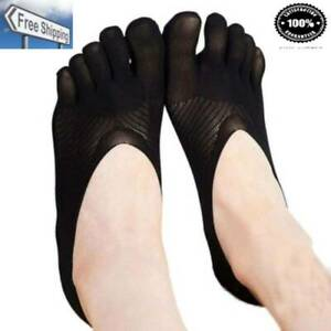 5 Pairs Female Socks Five Toe Sock Slippers Invisibility for Solid Color Crew