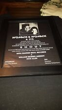 Womack & Womack & Co. Shout Rare Original Promo Poster Ad Framed!