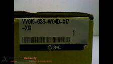 SMC VV815-03S-W04D-X17-XG   PNEUMATIC MANIFOLD ISO 5 STATION, NEW #169020