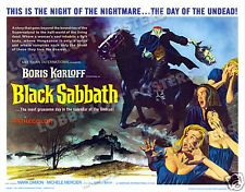 BLACK SABBATH LOBBY CARD POSTER HS 1964 BORIS KARLOFF MARK DAMON MICHELE MERCIER