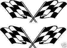 2 X GRANDE CORSE AUTOMOBILISTICHE BANDIERE adesivi TRASPORTATORE AUTO