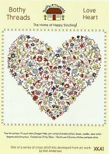 BOTHY THREADS LOVE HEART COUNTED CROSS STITCH KIT 24x26cm DESIGN XKA1 - NEW