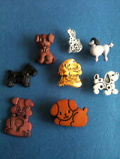 DOG DAZE  POODLE, DALMATION,SCOTTIE, LABRODOR 4432 CRAFT  BUTTONS *FAST POST OUT