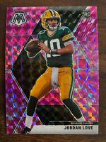 2020 NFL Panini Mosaic Camo Pink #211 Jordan Love RC Rookie GREEN BAY PACKERS