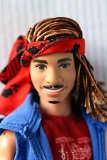 Ken Doll Fashionista 4 Floral Tee Hybrid Articulated Rerooted Redressed Painted