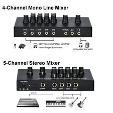 ANLEON MX400 Audio Mono Line Sound Stereo Mixer Console Mic with Power Adapter