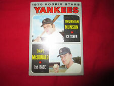 1970 Thurman Munson Rookie card #189,ungraded ,good cond.
