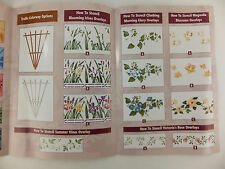 6 Blooming Florals Stencil Design Kit Decor Laser Cut Border Rose Iris Vine