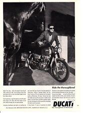 1967 DUCATI 350cc SEBRING MOTORCYCLE ~  ORIGINAL PRINT AD