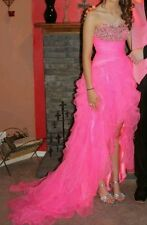 Bright Pink Partytime corset back Prom Pageant Quinceanera Dress Ball Gown sz 0