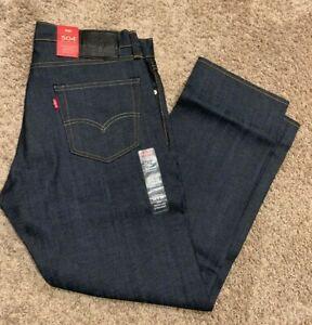 Levi's 504 Regular Straight Fit Blue Jeans Stretch Men's 34X29 RT$69 299900495