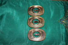 Vintage German Silver Metal Belt Buckles-3 Pieces-Western Look-Holds Coins