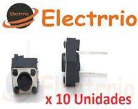 EL2075 boton pulsador 10 botones switch 2 pin largo 6x6x5 mm Arduino Protoboard