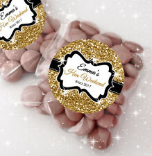 12x Personalised Hen Party Bag Fillers Sweet Bags & stickers KITS gold glitter