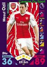 032 Mesut OZIL GERMANY ARSENAL.FC MALAGA.CF CARDS PREMIER LEAGUE 2017  TOPPS