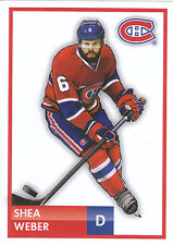 16/17 PANINI NHL STICKER DRAWING #97 SHEA WEBER CANADIENS *24765