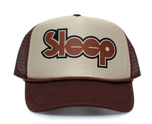 Sleep Rock Band Truckers Hat Stoner Adjustable One-Size Adult Cap Multi Color