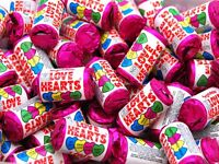 Swizzels Matlow Love Hearts Mini Rolls Party filler wedding favour Choice of Qty
