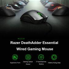 Original Razer DeathAdder Essential Wired Gaming Mouse Mice 6400DPI Optical Sens