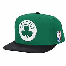 Boston Celtics Mitchell & Ness Black Current Solid Wool HWC Snapback Hat Cap NBA